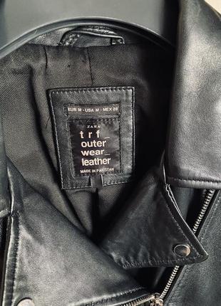Кожаная куртка косуха zara2 фото
