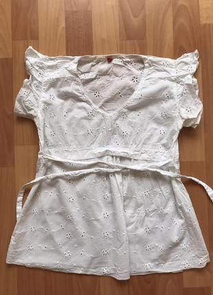 Рубашка белая, блуза из батиста esprit
