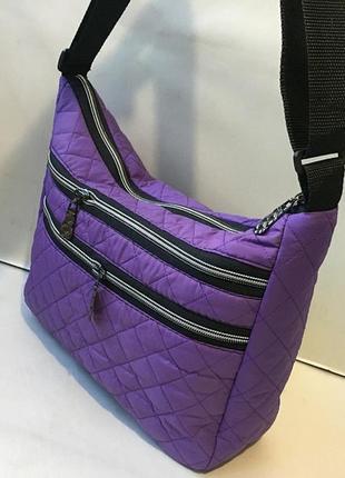 Новая женская сумка, стёганая сумка из плотной болоньи