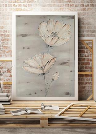 Текстурная картина« нежные цветы »