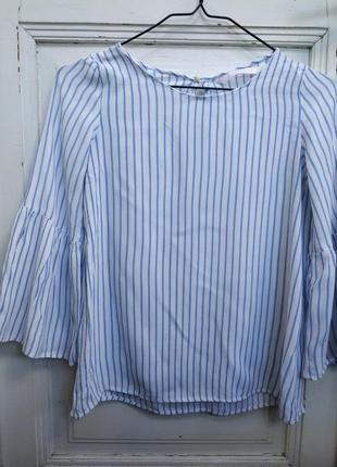Блуза в смужку з широким рукавом