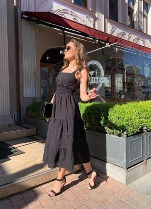 Шикарное платье сарафан прошва новинка