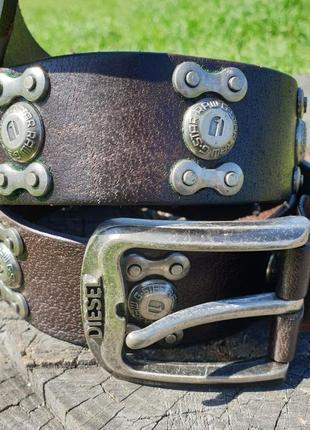 Универсальный ремень в стиле diesel, ширина 4 см, длина до 105 см, шоколадный цвет!