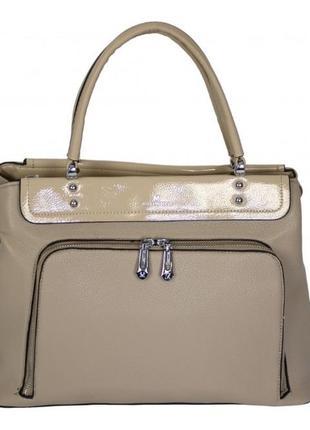 Стильная коричневая женская сумка / натуральная / новинка