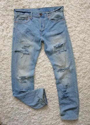 Классные рваные мужские джинсы h&m 32/34 в прекрасном состоянии