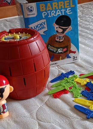 Настольная игра пиратская бочка, barrel pirate.  с рулеткой