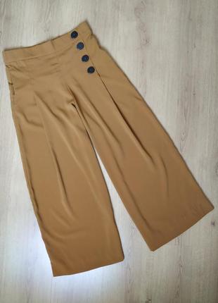 Кюлоты,брюки, штаны  с пуговицами от zara