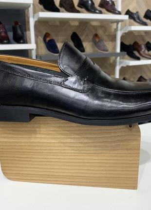Мужские кожаные туфли лоферы