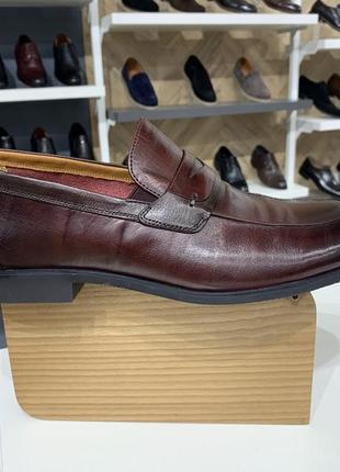 Мужские кожаные туфли лоферы lido marinozzi