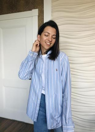 Трендовая хлопковая рубашка polo ralph lauren