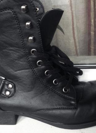 Фирменные ботинки в стиле милитари