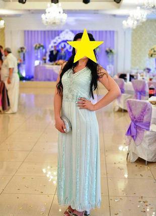 Вечернее платье расшито   бисером  дорогого бренда   maya vintage embellished maxi dress