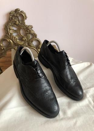 Кожаные туфли дерби luciano illara рр 41