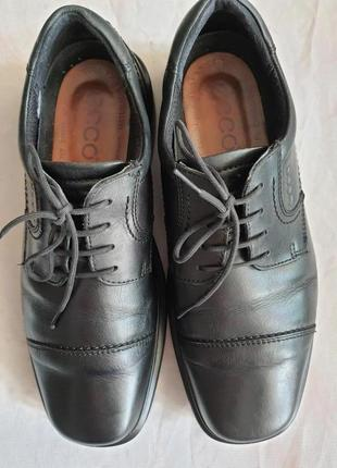 Ecco  оригинал легкие туфли натуральная кожа  туфли 27 см стелька
