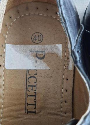 Новые туфли puccetti(мюнхен)  41 р. 27 см стелька7 фото