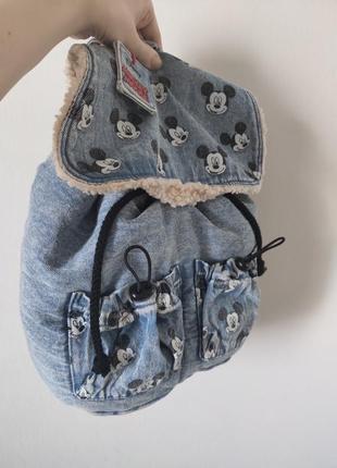 Рюкзак джинсовый микки от zara