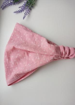 Женская косынка на резинке бандана муслин платок