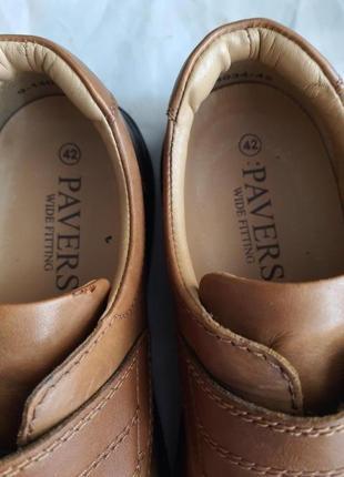 Легкие качественные туфли pavers wide fitting кожа 42 р.5 фото