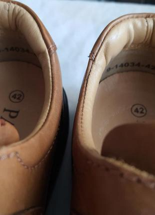 Легкие качественные туфли pavers wide fitting кожа 42 р.6 фото