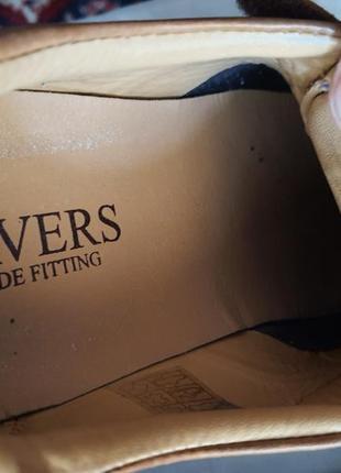 Легкие качественные туфли pavers wide fitting кожа 42 р.8 фото