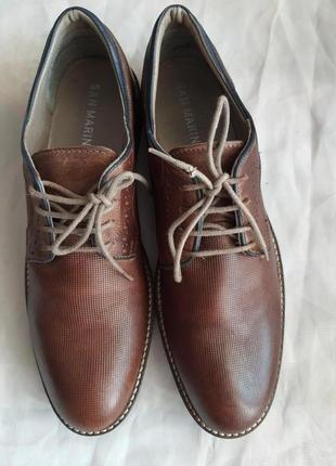 Туфли известного французского бренда san marina 41 р. натуральная кожа
