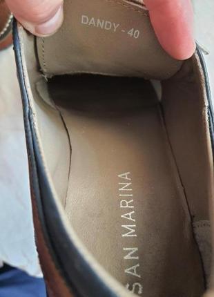 Туфли известного французского бренда san marina 41 р. натуральная кожа4 фото