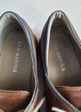 Туфли известного французского бренда san marina 41 р. натуральная кожа8 фото