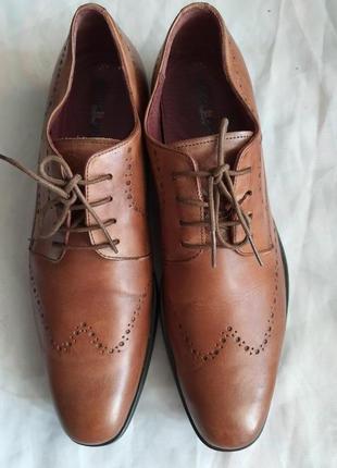 Туфли мужские nicola benson италия, размер 44, натуральная кожа