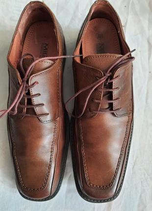 Мужские туфли la milano men's shoes 43р. натуральная кожа1 фото