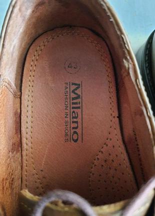 Мужские туфли la milano men's shoes 43р. натуральная кожа5 фото