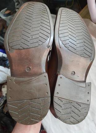 Мужские туфли la milano men's shoes 43р. натуральная кожа7 фото