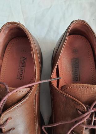 Мужские туфли la milano men's shoes 43р. натуральная кожа8 фото
