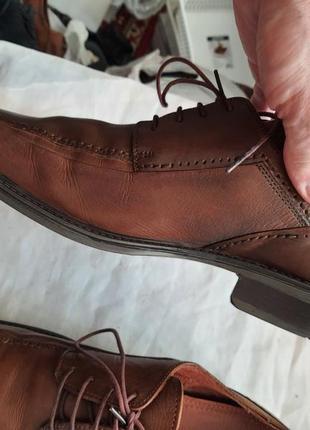 Мужские туфли la milano men's shoes 43р. натуральная кожа10 фото