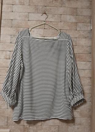 Актуальная блуза в полоску из вискозы
