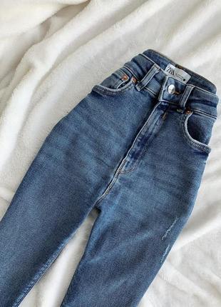 Высокие джинсы zara,размер 34(хс)