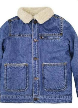 Джинсовка zara утепленная джинсовый пиджак