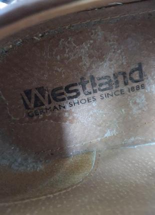 Мужские кожаные туфли класса люкс westland 43 р. германия!10 фото
