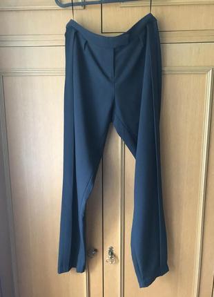 Темно синие брюки kira plastinina с лампасами