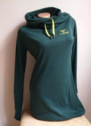 Теплое платье с капюшоном. туника. толстовка. свитшот. худи. зеленый, лимонный, салатовый.