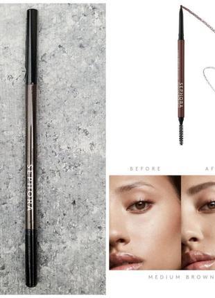 Водостойкий карандаш для бровей sephora retractable brow pencil
