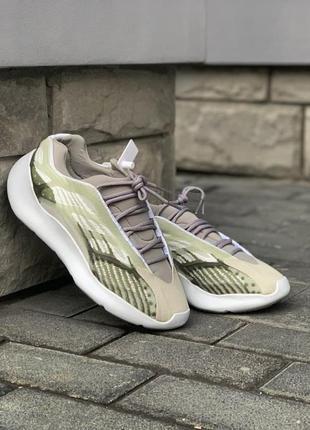 Легкие спортивные кроссовки кеды демисезонные adidas yeezy 7005 фото