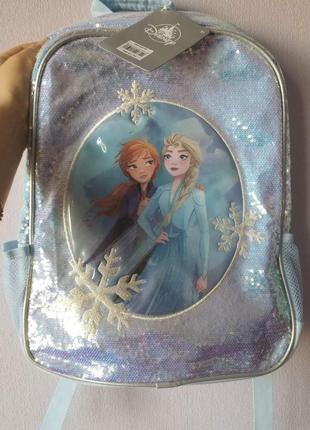 Рюкзак холодное сердце, эльза и анна, большой, тканевый