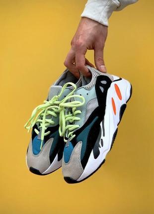 Стильные легкие кроссовки кеды adidas yeezy 700 демисезонные текстильные