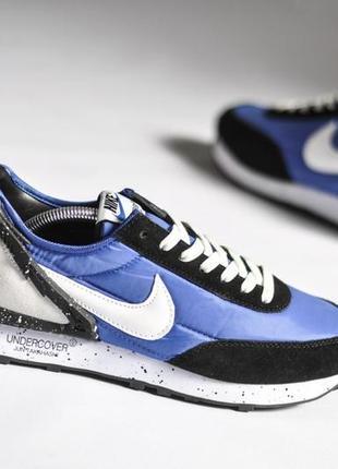 Легкие спортивные кроссовки кеды демисезонные nike синие найк