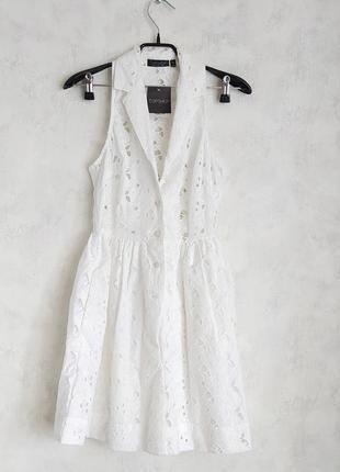 Кружевное платье сарафан topshop