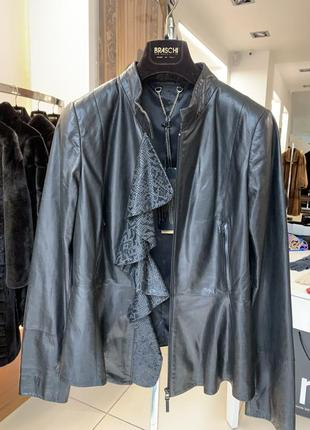 Тончайшая кожаная куртка -80%