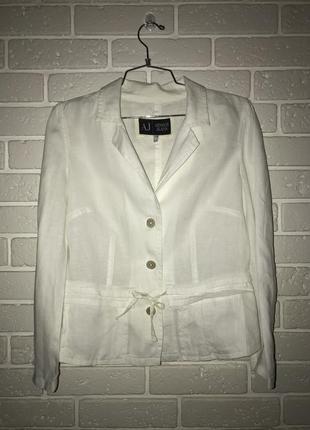 Жакет пиджак рубашка блуза armani jeans льняная
