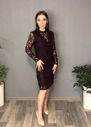 Кружевное платье новое vila clothes xs