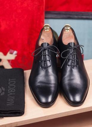 Оксфорды премиум класса navyboot, швейцария 44 мужские туфли кожаные броги классические