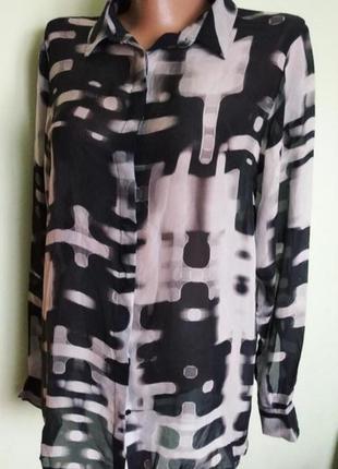 Шёлковая рубашка, блуза блузка iceberg l/xl